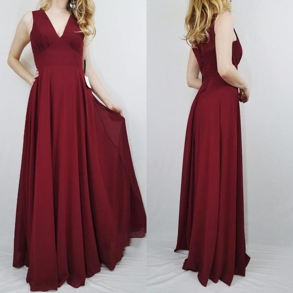 125020cf48 Lulu's Dresses | Here For Love Burgundy Sleeveless Maxi Dress | Poshmark